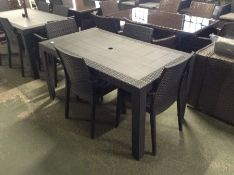 PLASTIC TABLE AND4CHAIRS (23689/9 23689/8)