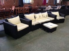 RATTAN 3 SEATER STOOL AND 2 X CHAIRS (23559/3)