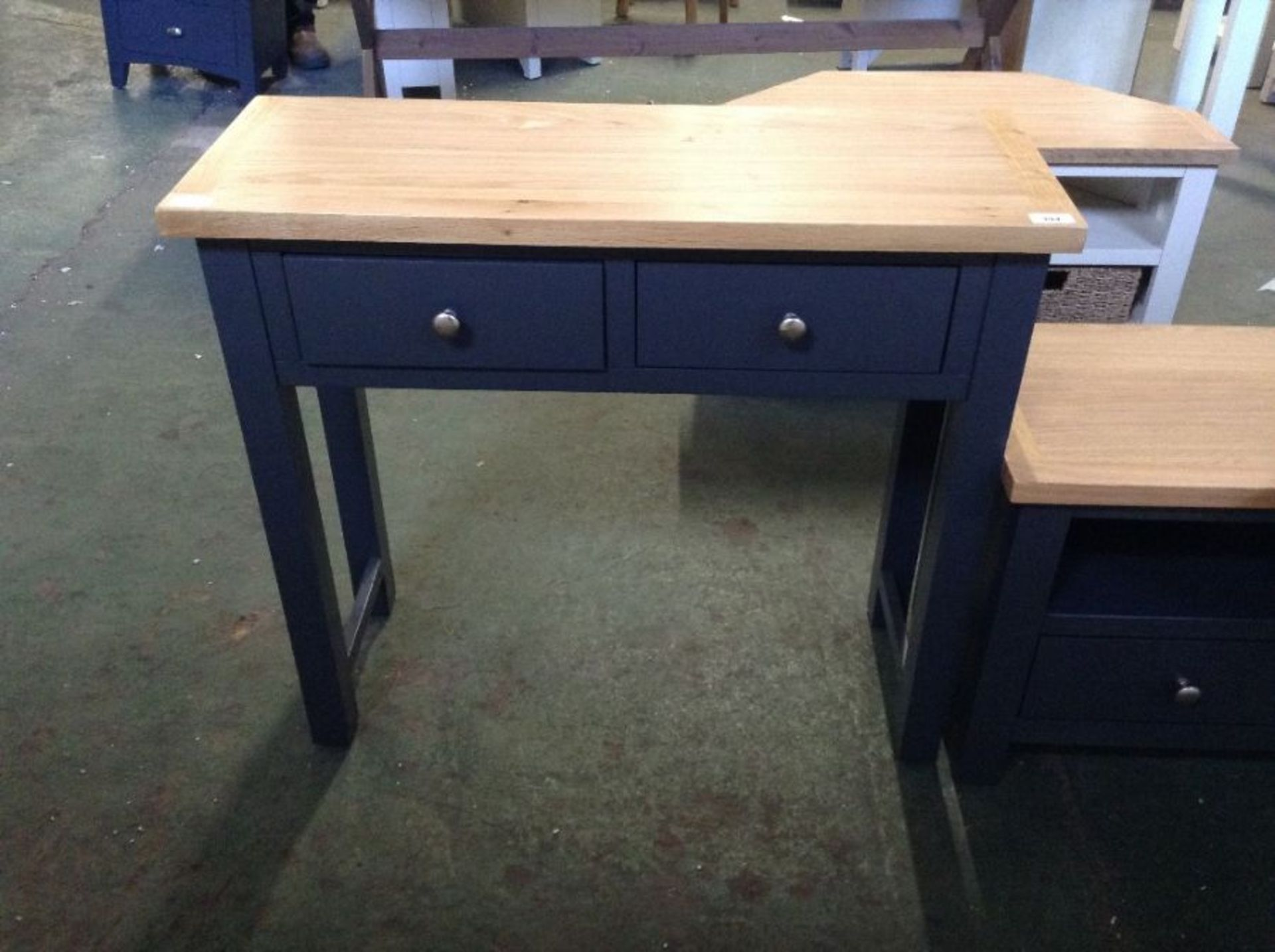 CHESTER Blue Painted Oak Hall Table(E/119 -NTP-CON-BL)(MISSING THREAD FOR SHELF)