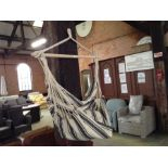 HANGING CHAIR WITH STAND (23648-8)