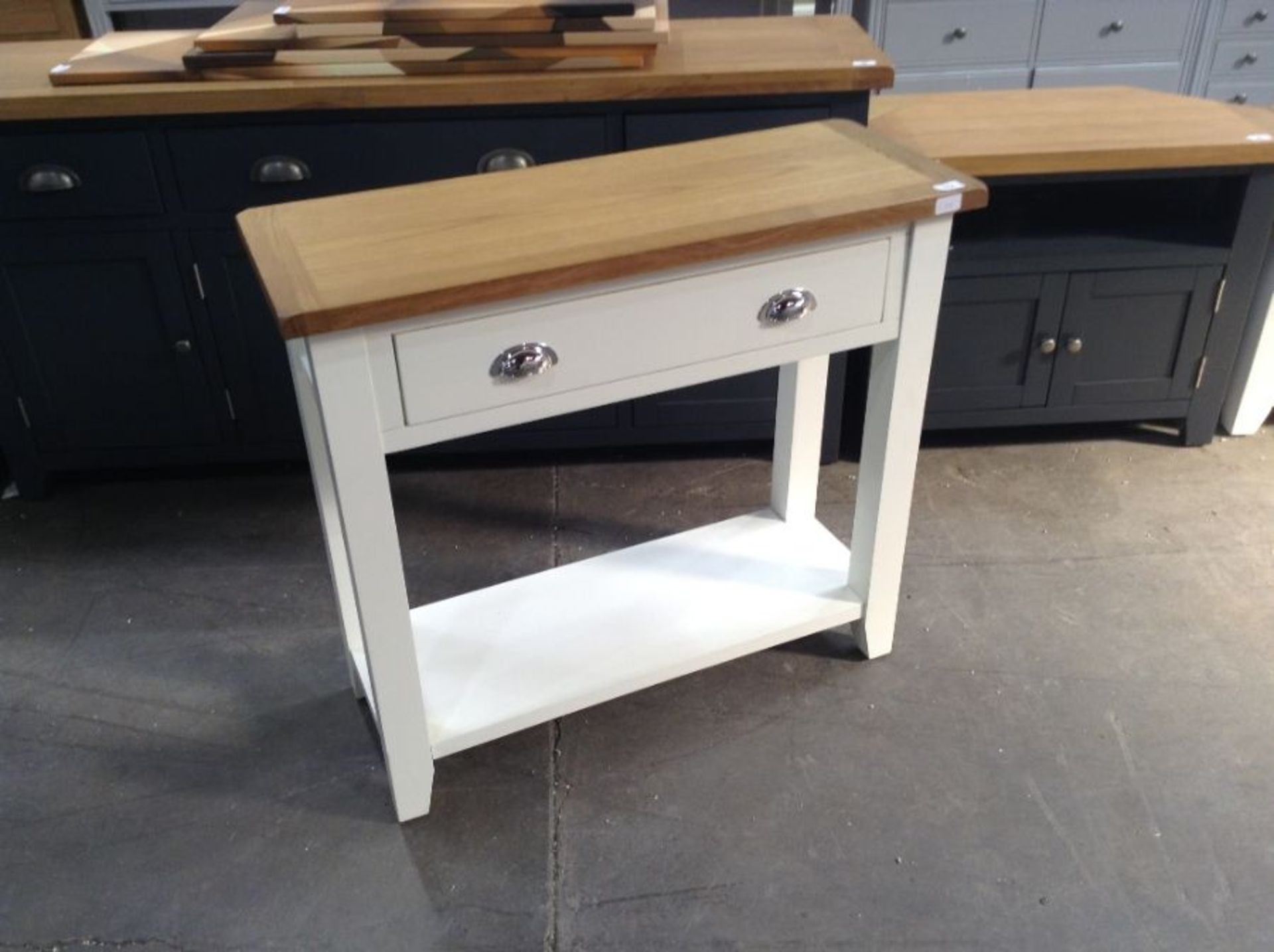 Chester White Painted Oak Hall Table(C/28 -NC-CON-W)