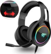 Havit RGB Wired Gaming Headset PC USB 3.5mm XBOX / PS4 Headsets with 50MM Driver, Surround Sound