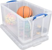 Really Useful Box 84 Litre Plastic Storage Box Clear £19.99 RRP