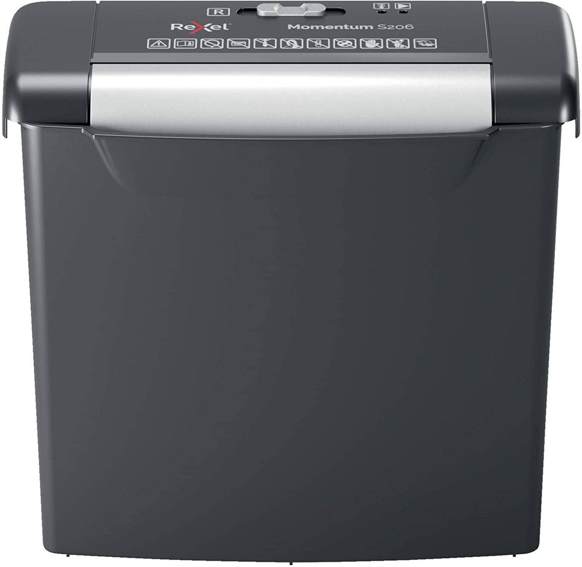 Rexel Momentum S206 Strip Cut Paper Shredder, Shreds 6 Sheets, 9 Litre Bin, Black £27.99 RRP
