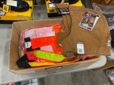 Lot of Asst. Carhartt Hoods, Safety Vests, Reflective Stripes