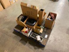 Pallet of Asst. Fasteners, Air Filters, Light Ballast, etc.