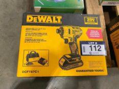 """DeWalt 20V Brushless 1/4"""" Impact Driver Kit"""