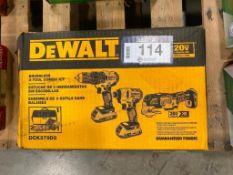 DeWalt 20V Brushless 3-Tool Combo Kit