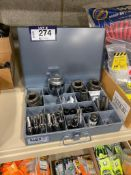 Lot of Klein Tools 20-Compartment Parts Drawer w/ Asst. Sockets