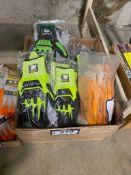 Lot of Asst. Superior Impact Gloves and Honeywell Rubber Coated Gloves