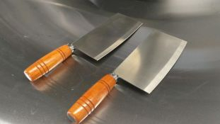 WOODEN HANDLE CLEAVER, JOHNSON-ROSE 20504 - LOT OF 2 - NEW