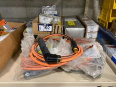 Lot of Asst. Welding Supplies including Welding Whips, Tips, Electrodes, etc.