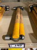 Lot of (3) Asst. Ball Peen Hammers