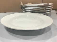 """11 5/8"""" RIMMED PASTA / SOUP DISHES, JOHNSON ROSE 90009, BOX OF 6 - NEW"""