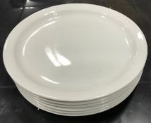 "9"" NARROW RIM DINNER PLATES. JOHNSON ROSE 90900, BOX OF 6 - NEW"