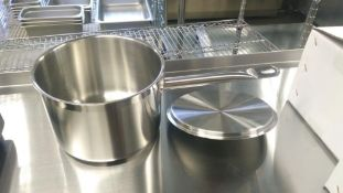 4.5QT HEAVY DUTY STAINLESS SAUCE PAN INDUCTION CAPABLE, JR 47642 - NEW