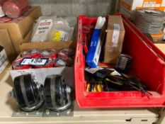 Lot of Asst. Electrical Tape, Screwdrivers, Tags, etc.
