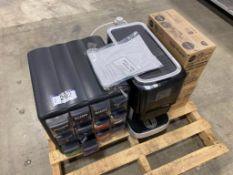 Pallet of Asst. Ars Coffee Machine, (5) Cases for Drink Machine, 12-Drawer Coffee Storage