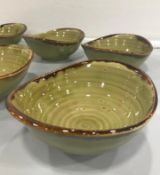 """DUDSON HARVEST GREEN DEEP BOWL 6.75"""" - 6/CASE, MADE IN ENGLAND"""
