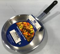 """8"""" ALUMINUM FRY PAN WITH COATED HANDLES, JOHNSON-ROSE 63228 - LOT OF 1 - NEW"""