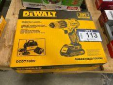 """DeWalt 20V Brushless 1/2"""" Hammer Drill/ Driver Kit"""