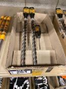 """Lot of (2) DeWalt 1"""" Drill Bits w/ 7/32"""" Masonry Bit"""