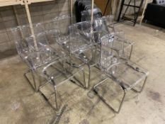 Lot of (7) Clear Plastic Chairs