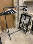 Lot of Coat Rack w/ Hangers and (2) A-Frame Signs