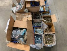 Pallet of Asst. Fasteners including Bolts, Washers, Pins, etc.