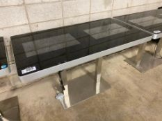 "EKAA 27.5"" X 51"" Commercial Double LCD Interactive Touchscreen Table, Model: ETT-LDG60S-AD"