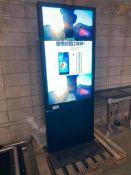 "EKAA 27"" X 48"" Commercial LCD Digital Marketing Sign, Model: ETT-LDG60S-AD"