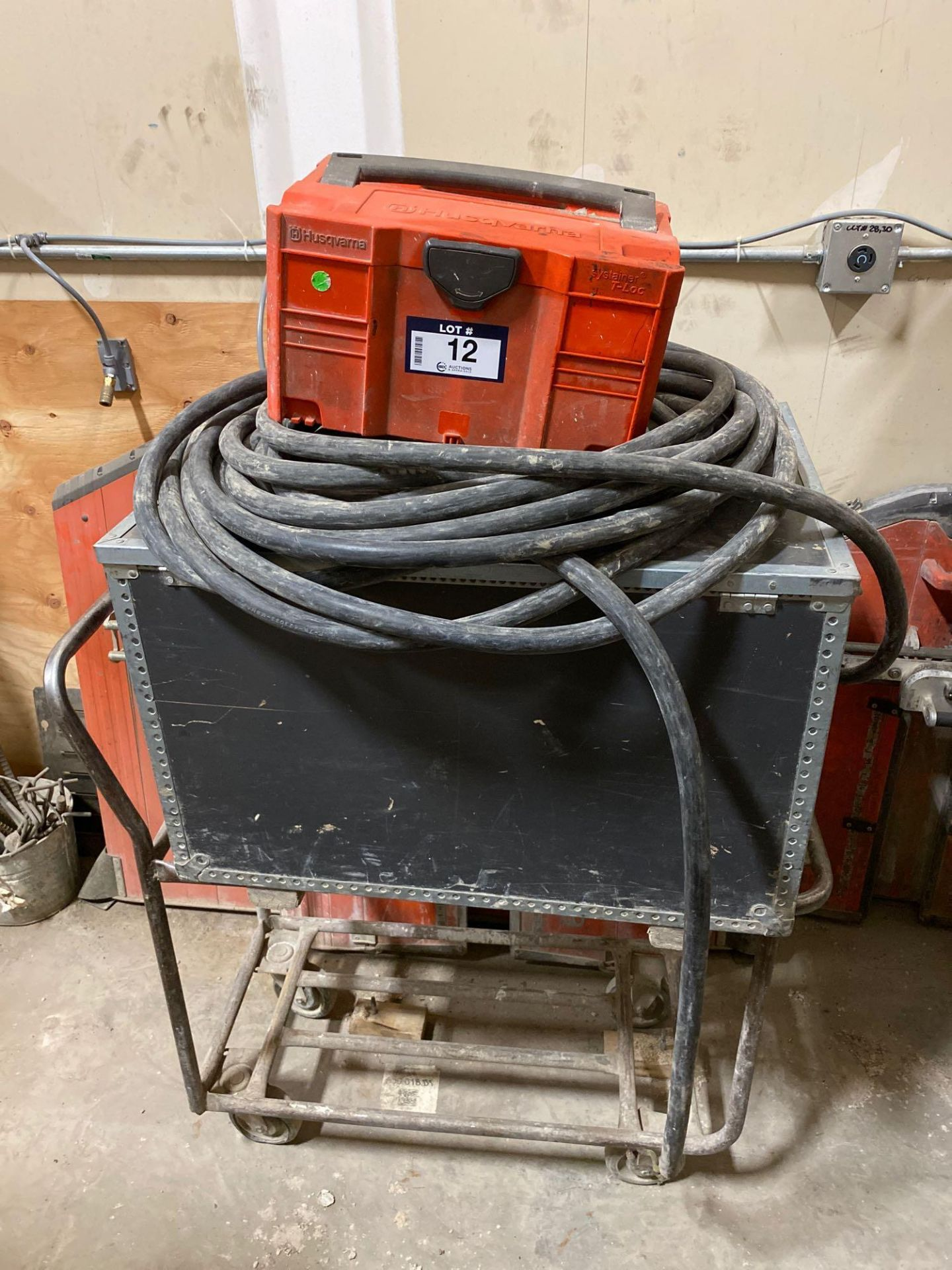 Husqvarna WS 440 HF Electric Wall Saw, Husqvarna PP 440 HF Power Pack, Track System, Blade Guards, e - Image 6 of 17