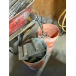 Lot of (2) Pails of Asst. Concrete Finishing Tools