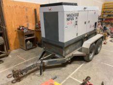 Wacker Neuson 80Kw Diesel GensetTrailer MGT3, 9,085hrs Showing, VIN# 4TCSU4208BHG21352