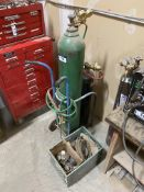 Lot of Oxy/Acetylene Cart w/ Gauges, Torches, Hoses, Bottles, etc.