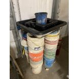 Lot of Asst. Oil Drip Pans and Asst. Pails