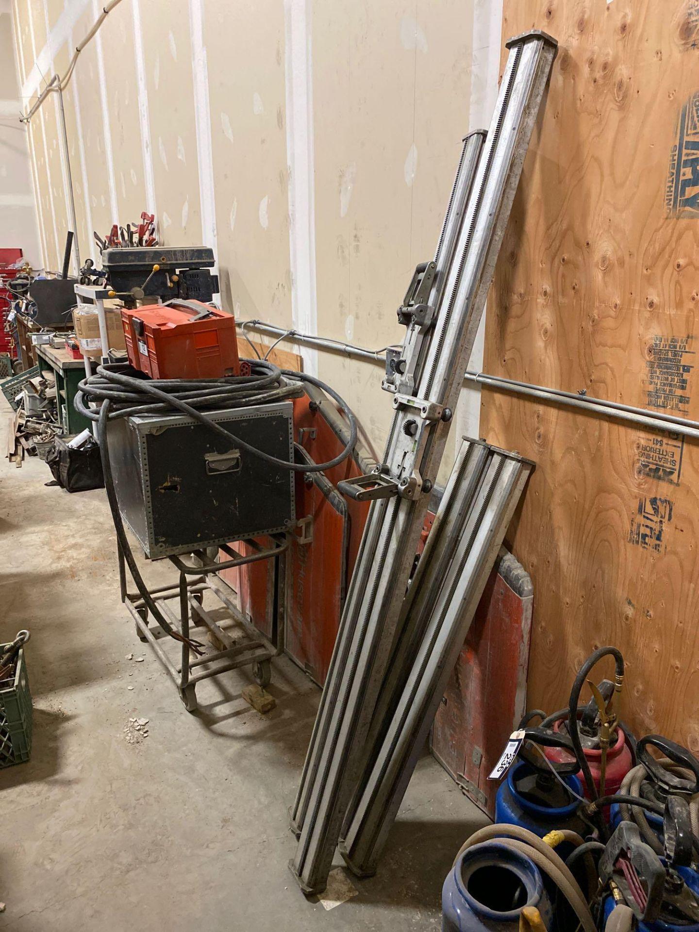 Husqvarna WS 440 HF Electric Wall Saw, Husqvarna PP 440 HF Power Pack, Track System, Blade Guards, e