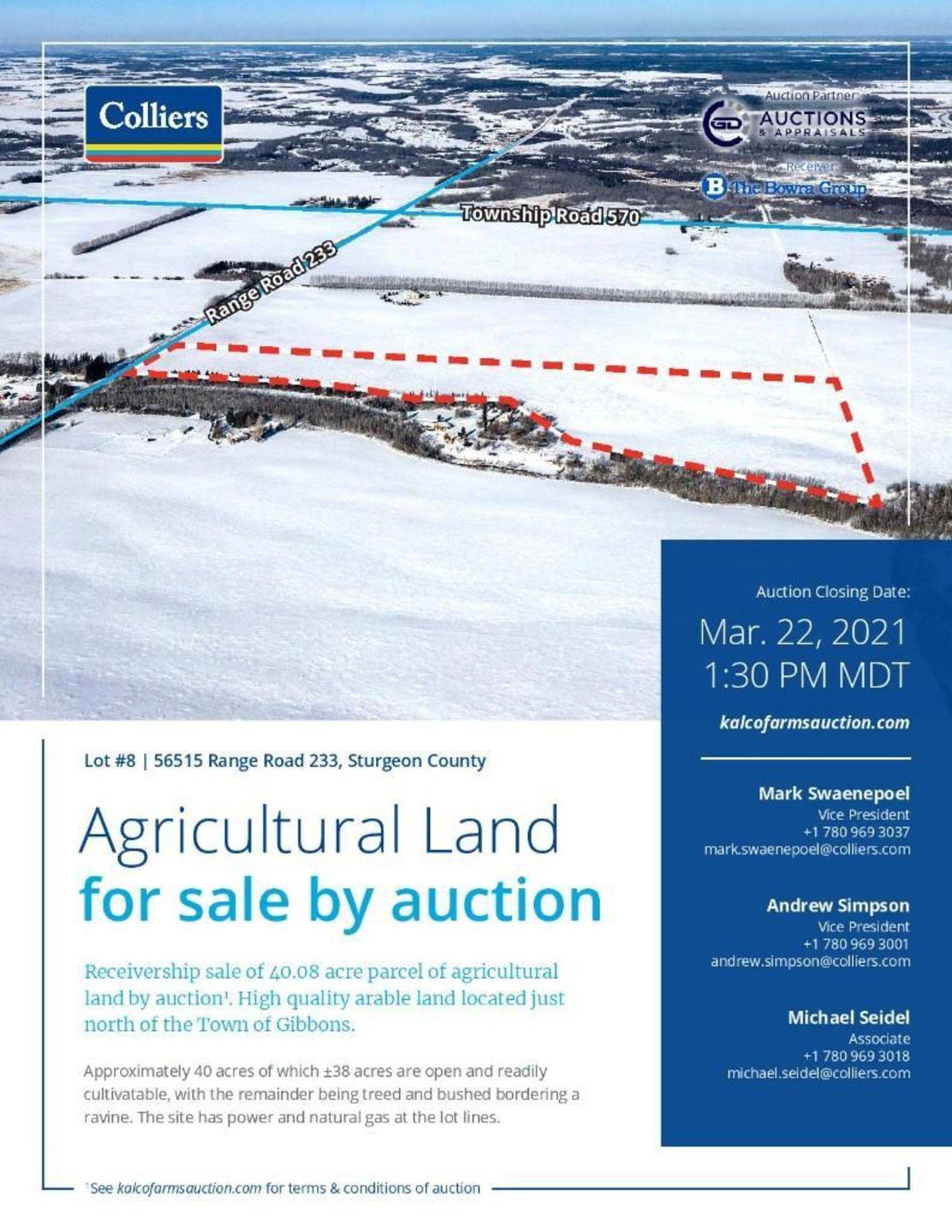 Lands located at Civic Address 56515 Range Road 233, Sturgeon County. - Image 2 of 7