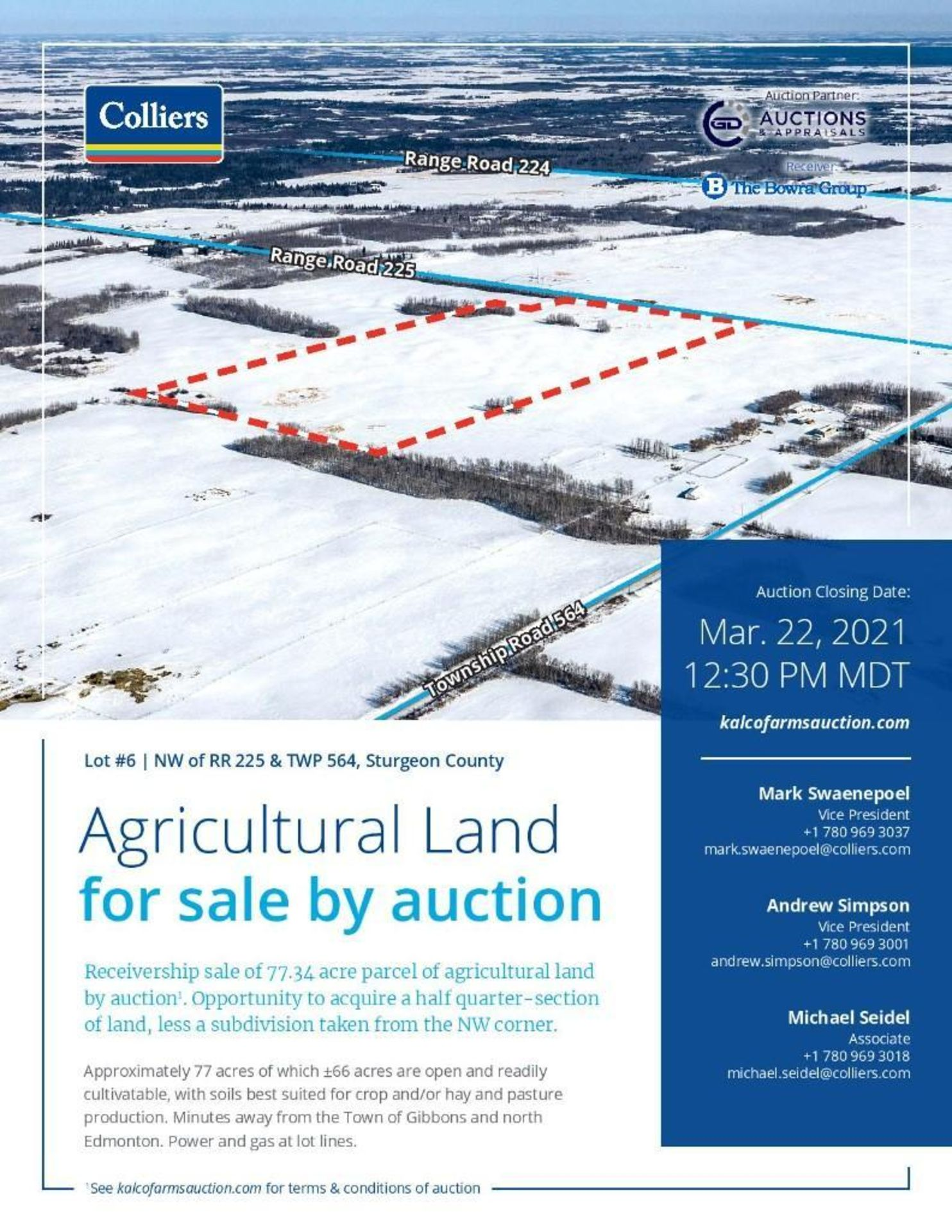 Lands located at Civic Address NW of RR 225 & TWP 564, Sturgeon County. - Image 2 of 7