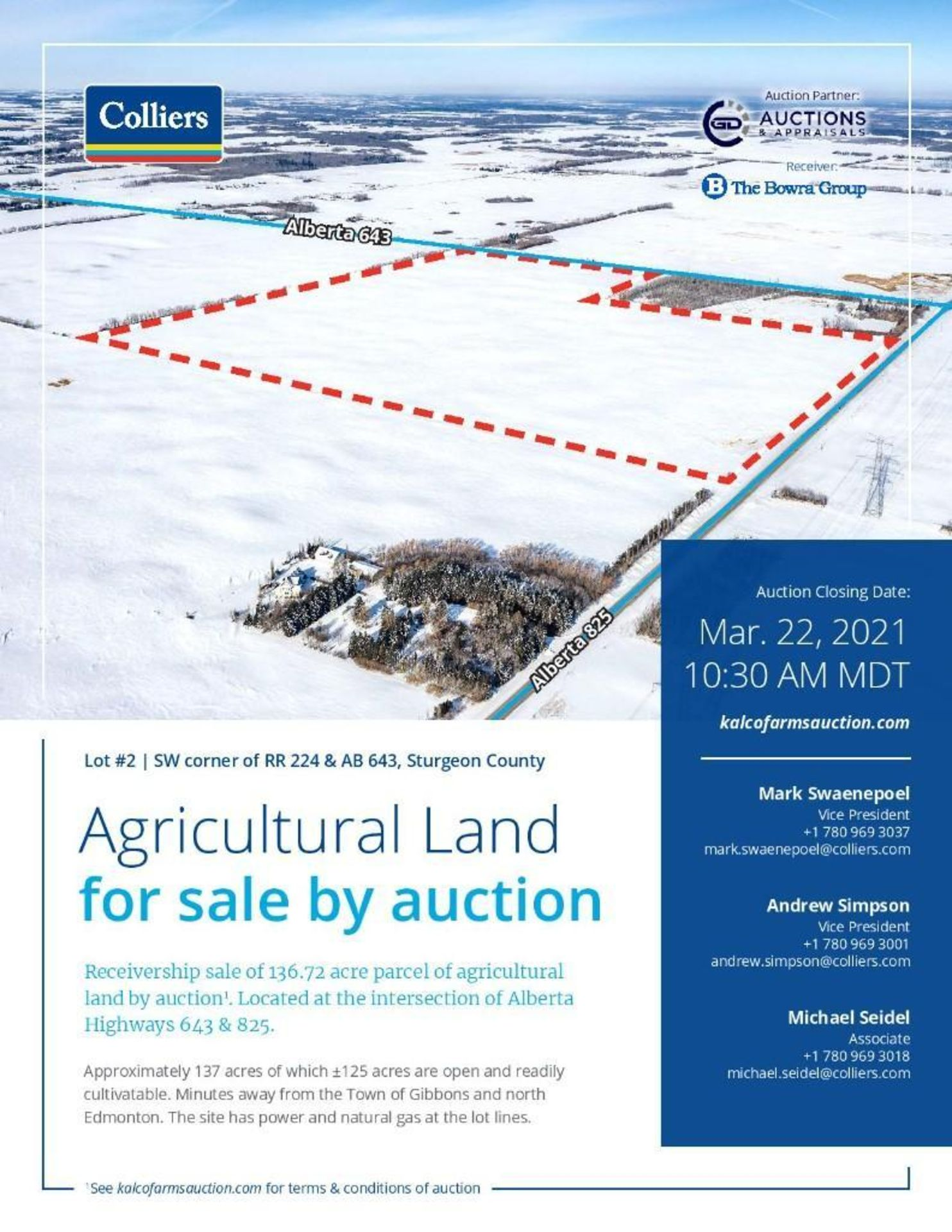 Lands located at Civic Address SW corner of RR 224 & AB 643, Sturgeon County. - Image 2 of 7