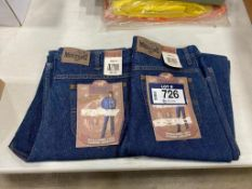 Lot of (2) Pairs of Asst. Mustang Blue Jeans