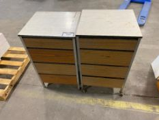Lot of (2) 4-Drawer Stands