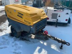 Atlas Copco XAS 185 Towable Compressor, Pintle Hitch, Approx. 5,100hrs Showing