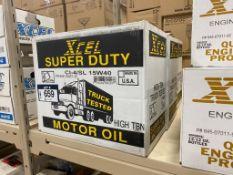 Lot of (3) Cases of XCEL CI-4/SL 15W-40 Motor Oil