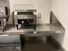 """38"""" X 22"""" STAINLESS STEEL WALL SHELF - NOTE: REQUIRES REMOVAL FROM WALL, PLEASE INSPECT"""