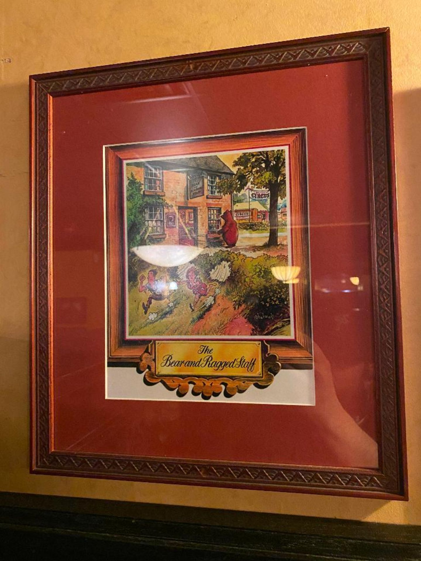 LOT OF (2) FRAMED MEMORABILIA PHOTOS & (1) SMITHWICK'S MIRROR - NOTE: REQUIRES REMOVAL FROM WALL, PL - Image 2 of 4