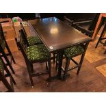 RECTANGULAR BAR HEIGHT TABLE WITH 4 BAR HEIGHT CHAIRS