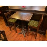 "30"" X 24"" BAR HEIGHT TABLE WITH 2 BAR HEIGHT CHAIRS"