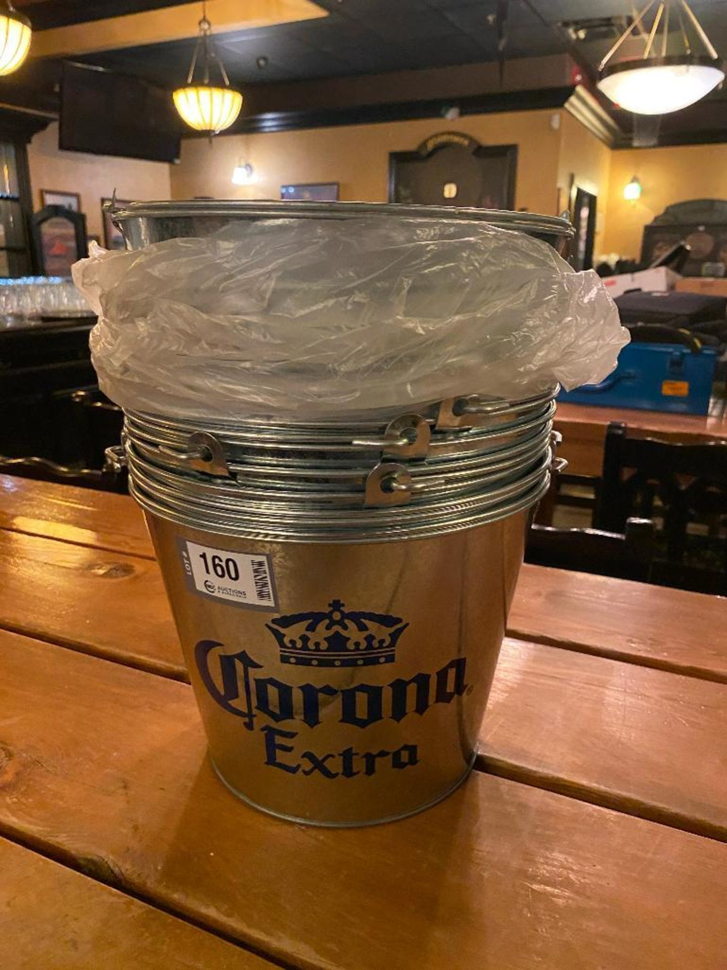 LOT OF CORONA EXTRA BRANDED METAL PAILS - Image 2 of 2