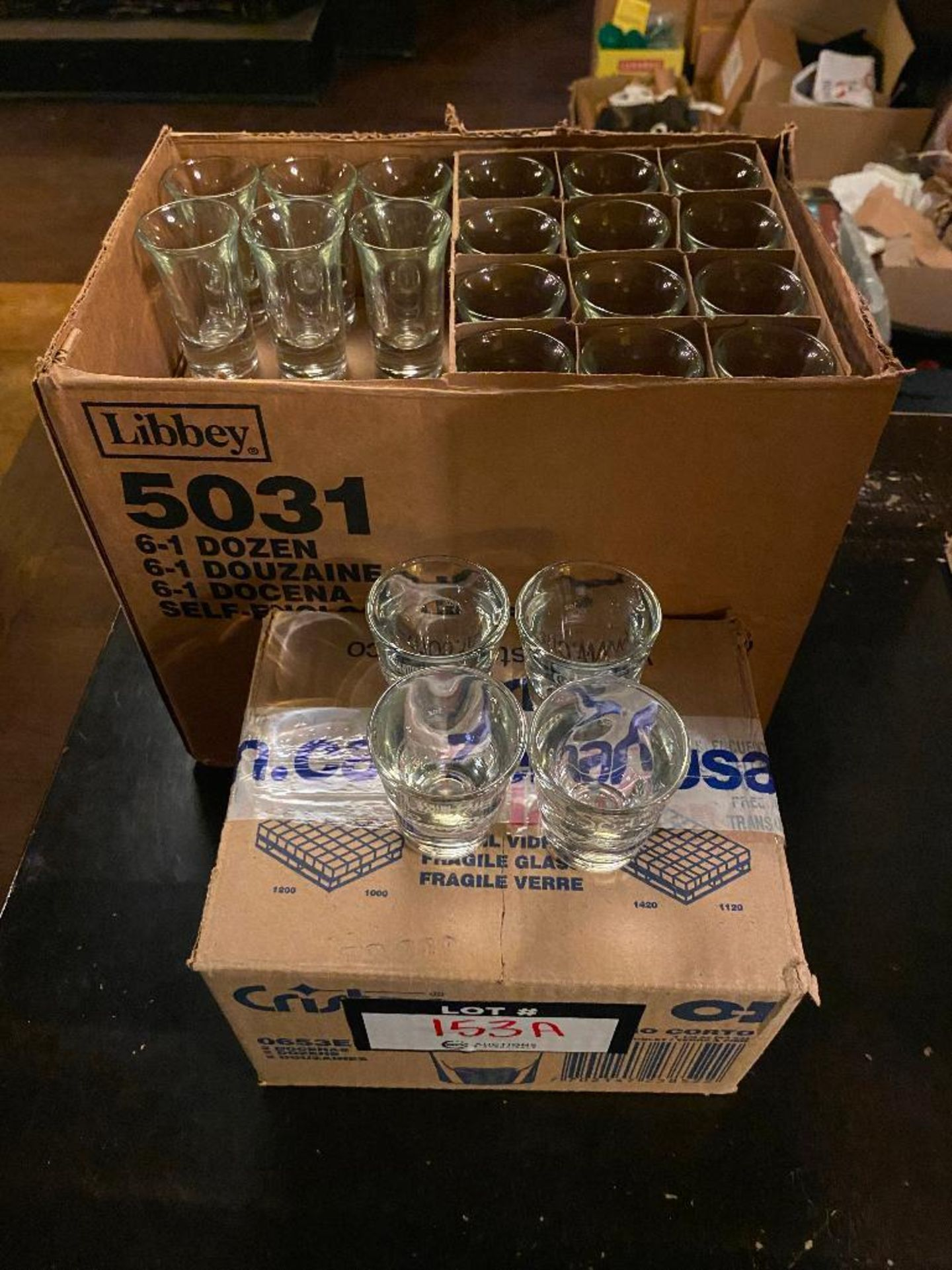 LOT OF (2) BOXES OF SHOT GLASSES